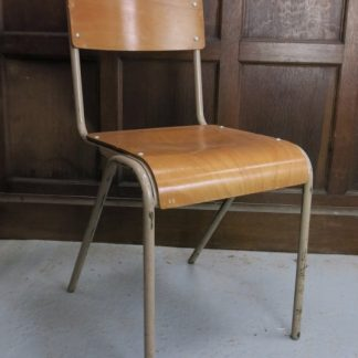 Wadhurst Early 1960's PEL Style Steel + Ply Stacking Chairs