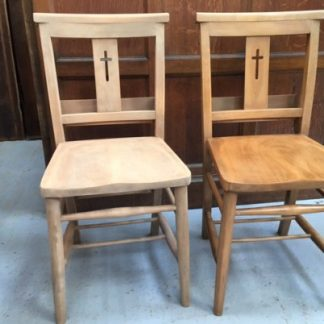 Chapel Chairs Stripped Sanded and Waxed