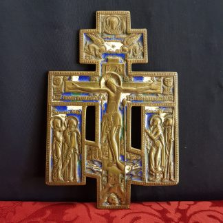 Enamel Crucifix Icon with the Holy Face