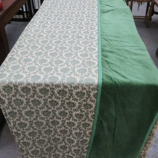Altar Frontals/Curtains Green and Cream