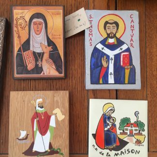 Four Small Icons, Religious Tiles Plaques