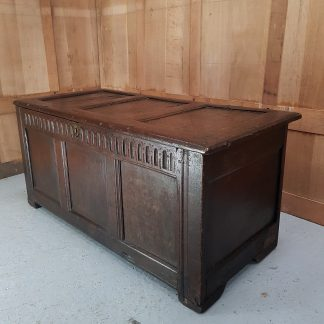 Late 17th Century Three Panel Front Oak Coffer