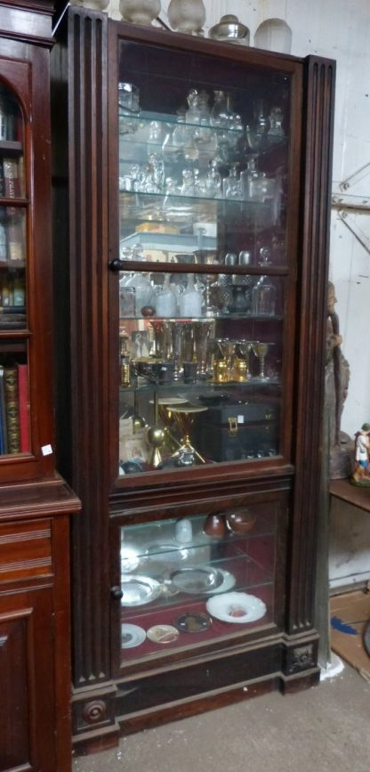 Cabinet Teak with Adjustable Glass Shelves