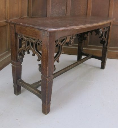 Smaller Size Highly Carved Oak Altar From Muswell Hill URC1900