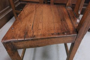 Set of 6 Antique Elm 18th Century Country Chairs