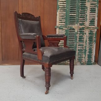 Edwardian Large Gentleman's Reading Club Armchair