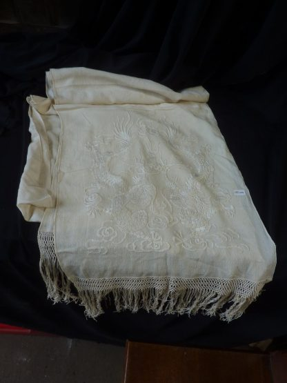 Shawl Cream Embroidered St Alphege