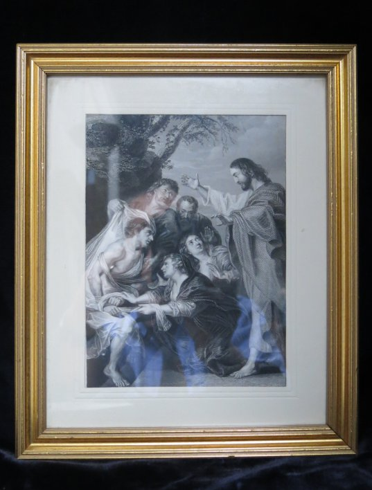 Gospel Scene Print Scene Antique Church Furnishings