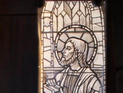 Original Stained Glass Window Cartoon - St Jude
