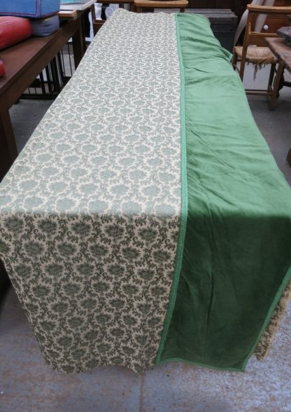 Altar Frontals / Curtains Green and Cream