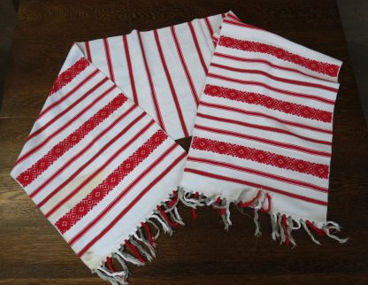Altar / Table Cloth Red and White
