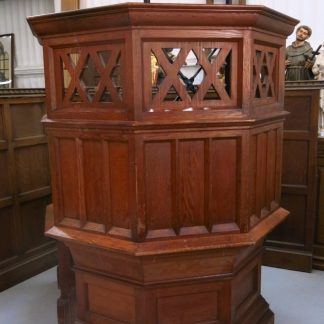Edwardian Pitch Pine Pulpit from St Margaret's Finchley