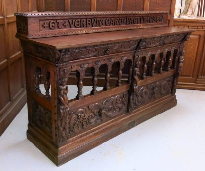 Spectacular Hand Carved Elizabethan Style Altar with Gradine