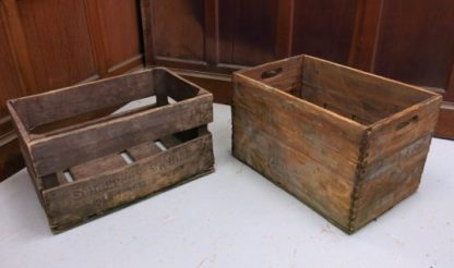 Old original Beer and Wine Wooden Crates Boxes