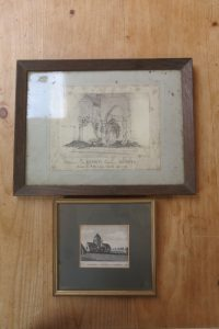 Two Antique Pictures of Old Churches from around 1850, Rochester and Shoreham