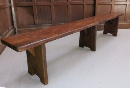 Oak Bench Made from Old Church Chapel Pew Seats made to measure