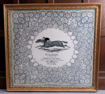 Fantastic Large Derby Horse Racing Framed Scarf Picture Memento