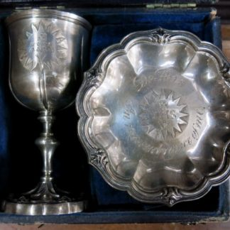 Georgian (William IV) Travelling Chalice and Paten in Box