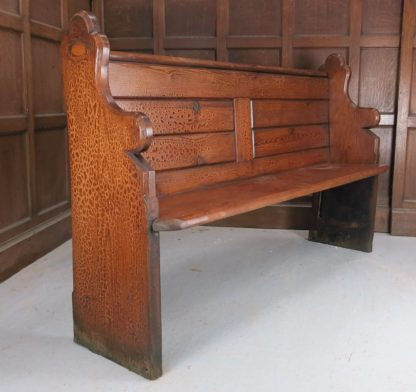 1885 Welsh Pitch Pine Church Chapel Pews from Porth URC