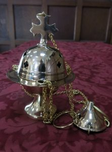 Sweet Small Brass Censer Thurible With Quatrofoil Piercings