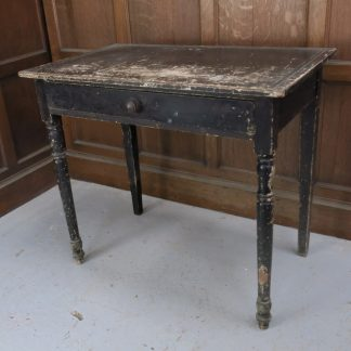 Antique Distressed Black Was White Table