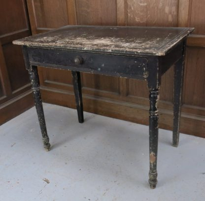 Small Antique Distressed Black (Was White) Table