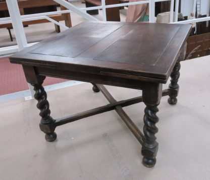 Wirral Kingsize Barley Twish Leg Oak Draw Leaf Vintage Table