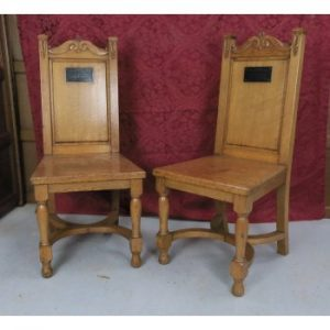 Two Front of Church Clergy Communion Chairs from Ashton Independent Methodist Church