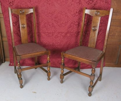 Classic 1930's Dining Chairs Pair