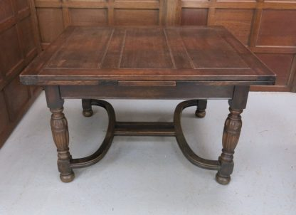 Pollock's Special Pull Out Table. Extra Special Oak Draw Leaf Table