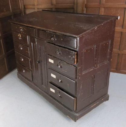 Outsize Dickinsian Mid 19th Century Painted Pine Desk Cabinet