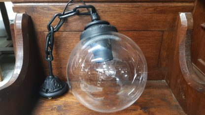 Fumagalli Italian Iron and Glass Effect Baronial Ball Lamps