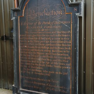 Very Large Hand Painted Antique Early Victorian Pine 'To the Poor' Noticeboard