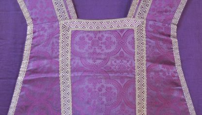 Chasuble Purple and Silver