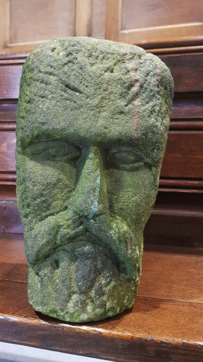 Ancient 11th Century Stone Head of Jesus Remarkable River Find