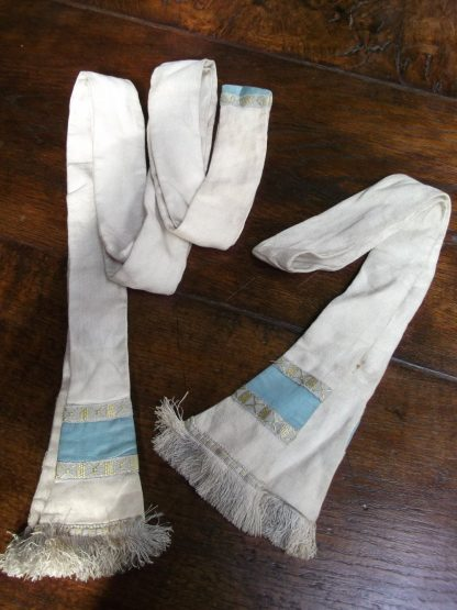 Maniple and Stole Set Cream and Duck Egg Chatham
