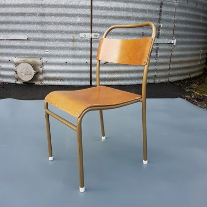 Excellent Condition Vintage 1950's 'Nest-A-Bye' Tubular Metal Stacking Chairs