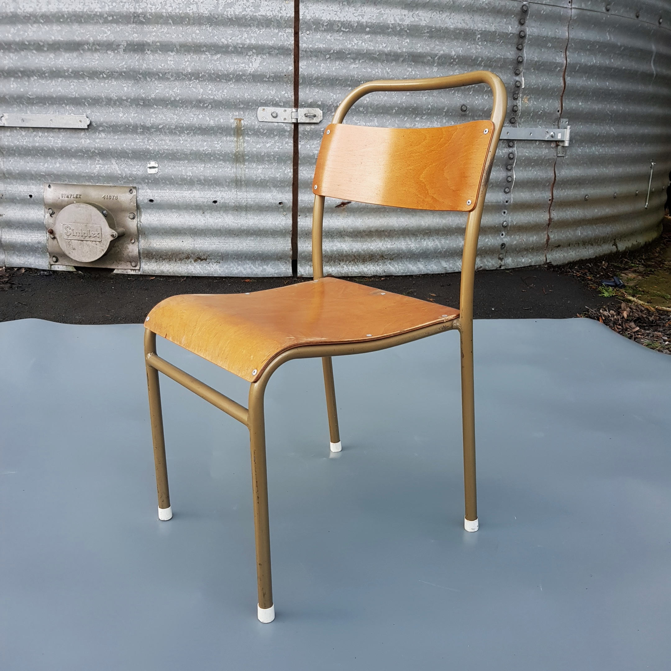 Excellent Condition Vintage 1950u0027s U0027Nest A Byeu0027 Tubular Metal Stacking  Chairs