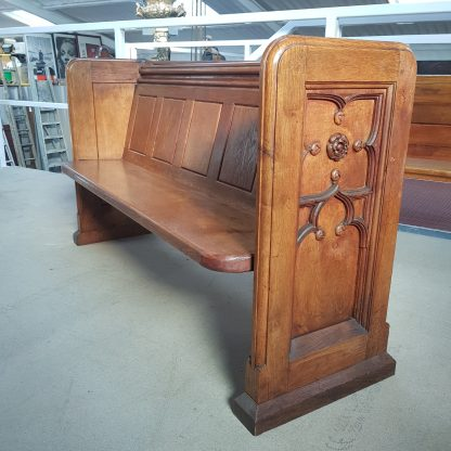 St Barnabas of Linslade Carved End Oak Gothic Church Chapel Pews
