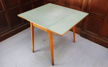 1960's Vintage Fold Up Fold Down Formica and Hardwood Table