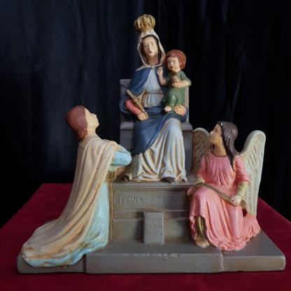 Mary Queen of All Hearts Antique Old French Statue