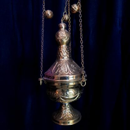 Conical Censer Thurible Incense Burner with Cupola