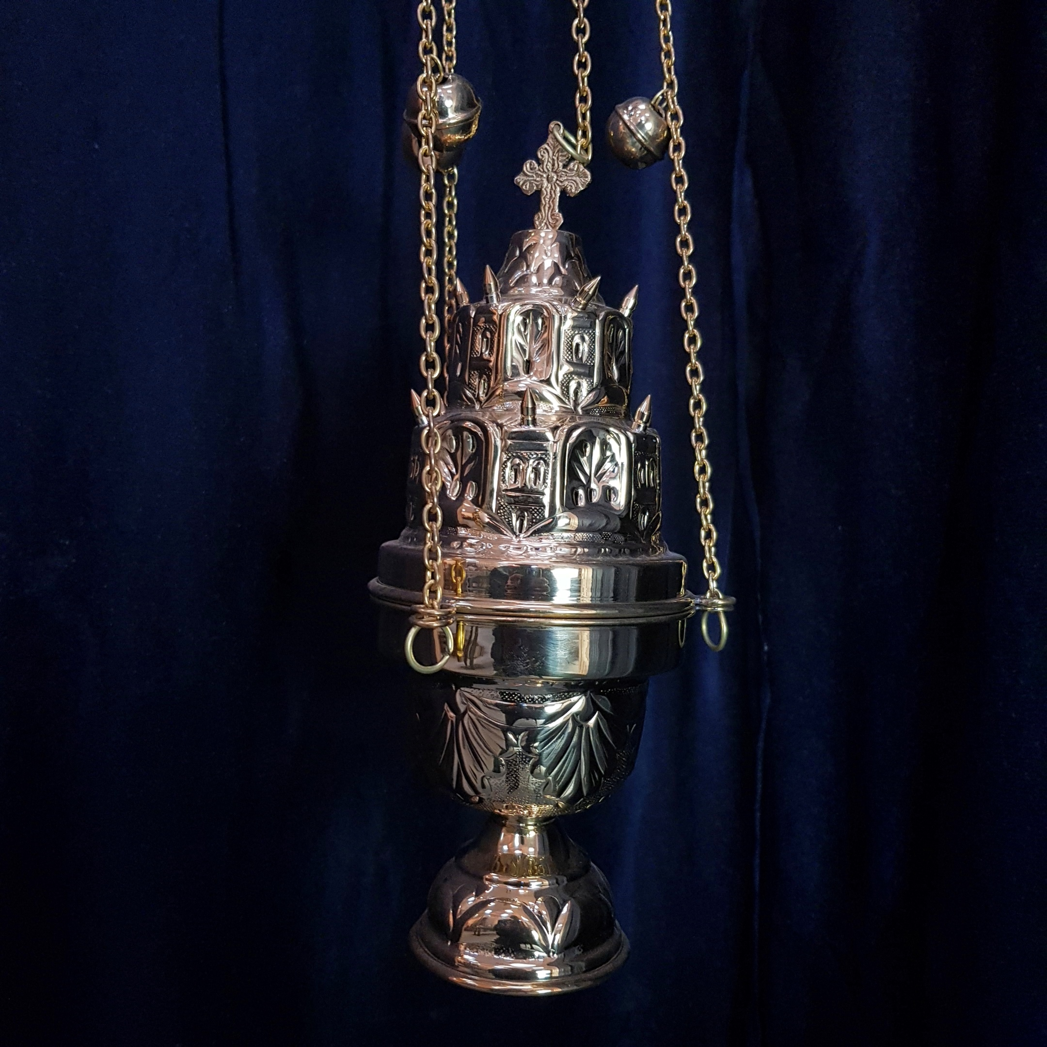Spiked Temple Thurible Censer Antique Church Furnishings