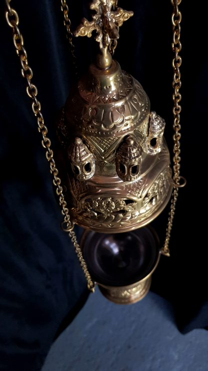Brass Thurible Censer Byzantine Styled without Bells