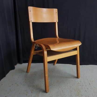 Classic Early 1960's Vintage Plywood Stacking Chairs