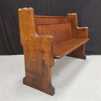 Antique 1930's Quality Dark Oak Church Pew