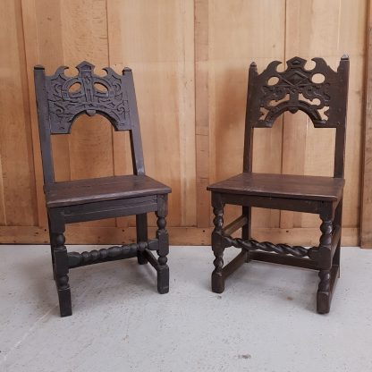 Ancient Oak Wainscot Chairs
