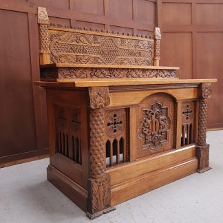 Carved Oak Convent Church Altar