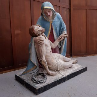 Lifesize Antique Carved Pieta