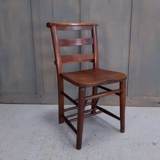 Vintage Antique Elm & Beech Ladderback Church Chapel Chairs